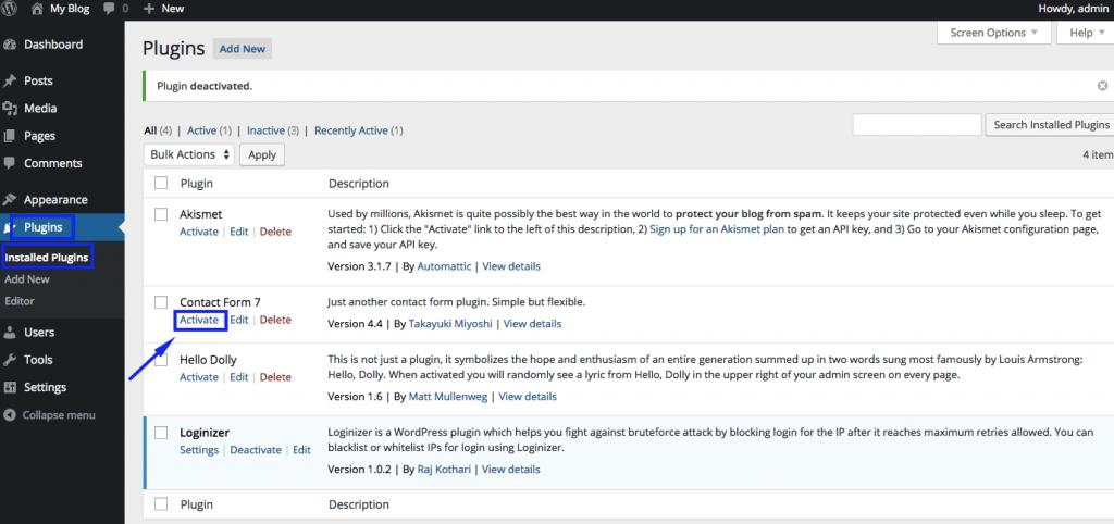 Activate WordPress Plugins 2