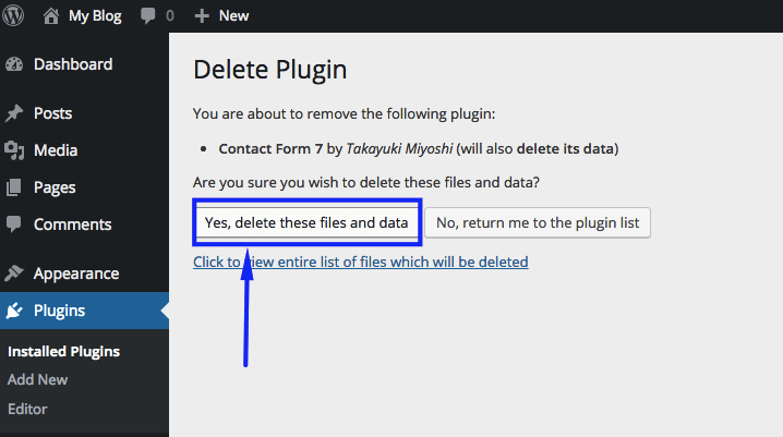 Delete WordPress Plugins 2