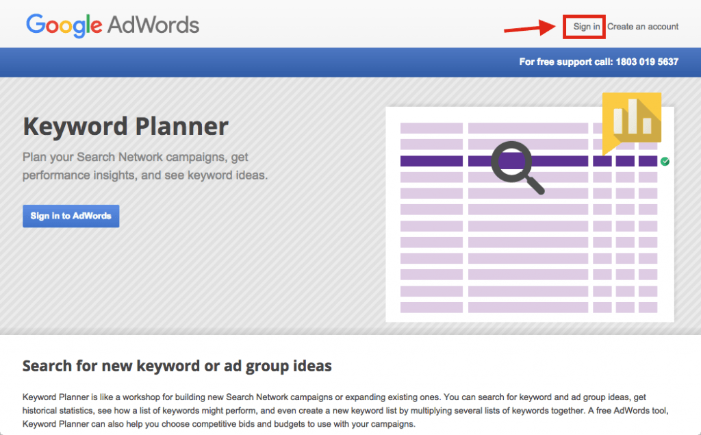 Google Keyword Planner Sign In