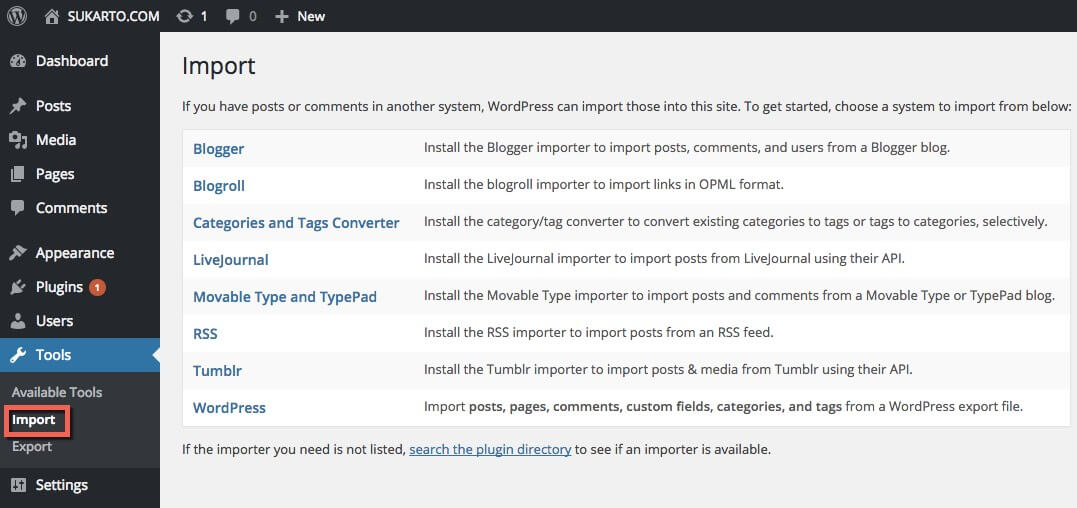 Import-Wordpress
