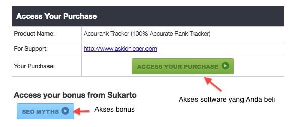 Akses Bonus Accurank Tracker dari BBI