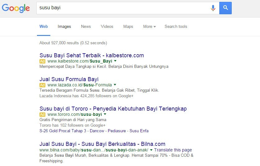 searching di google