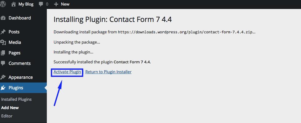Activate Plugins