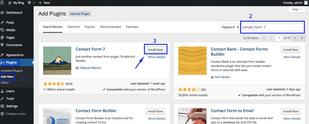 Add New WordPress Plugins