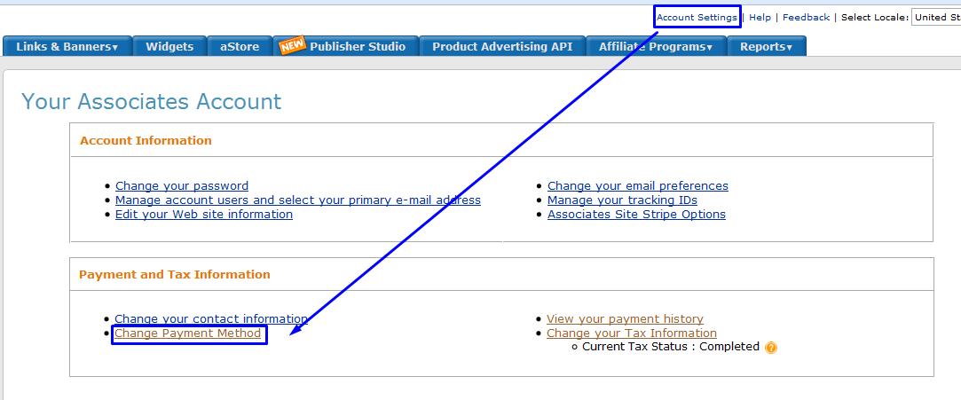 change payment method amazon