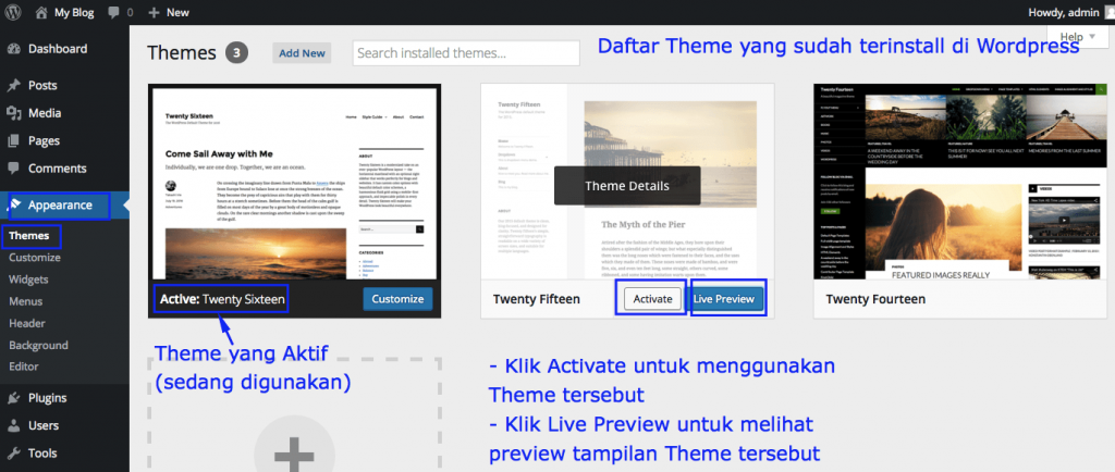 daftar theme wordpress