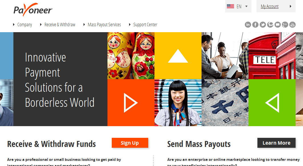 payoneer website